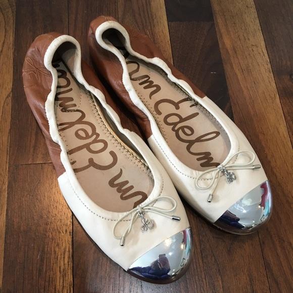 e5fe8eef2 SAM EDELMAN Metallic Toe Fairleigh Ballet Flat. M 5ab57881caab44e384f91762